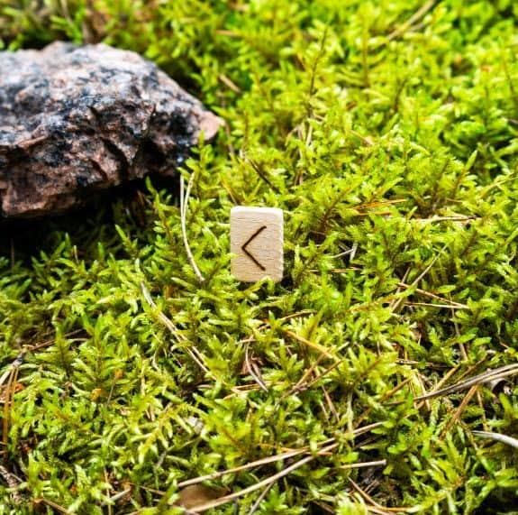 Kenaz rune stone